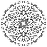 Mandala. Coloring page. Vector illustration. Stock Image