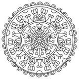 Mandala. Coloring page. Vector illustration. Royalty Free Stock Photo