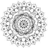 Mandala a colorir Foto de Stock Royalty Free