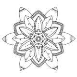 Mandala a colorir Fotografia de Stock Royalty Free