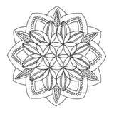 Mandala a colorir Foto de Stock