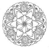 Mandala a colorir Imagens de Stock