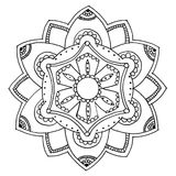Mandala a colorir Foto de Stock Royalty Free