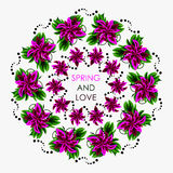 Mandala in colors for a good and positive spring. Can be us Stock Images