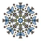 Mandala com lírio Fotografia de Stock