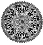 Mandala compleja de la marijuana del cáñamo Fotografía de archivo
