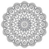 Mandala con gli elementi disegnati a mano royalty illustrazione gratis