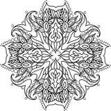 Mandala con gli elementi floreali Fotografia Stock Libera da Diritti