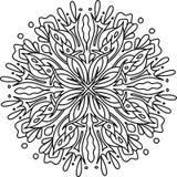 Mandala con gli elementi floreali Immagine Stock Libera da Diritti