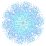 Mandala con i simboli e gli elementi sacri della geometria Fotografia Stock