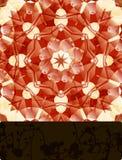 Mandala con la bandera en blanco Imágenes de archivo libres de regalías