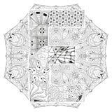 Mandala con la letra E para colorear Zentangle decorativo del vector Fotografía de archivo