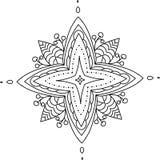 Mandala con le bacche Immagine Stock