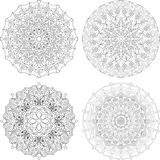 Mandala contour element for decor decoration vector Stock Photos
