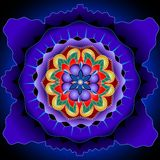 Mandala core. Elements forming a symmetrical mandala looking as a blooming flower royalty free illustration