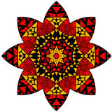 Mandala in crazy colors Stock Photography