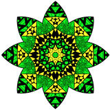 Mandala in crazy colors Royalty Free Stock Photo