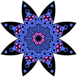 Mandala in crazy colors Royalty Free Stock Photography