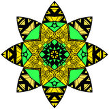 Mandala in crazy colors Royalty Free Stock Images