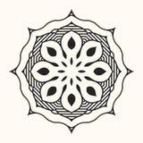 Mandala. Creative circular ornament. Round symmetrical pattern. Vintage decorative elements. Ethnic oriental pattern. Ottoman motifs. Anti-stress coloring page stock illustration