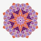 Mandala. Creative circular ornament. Round symmetrical pattern. Vintage decorative elements. Ethnic oriental pattern. Ottoman motifs. Tattoo design. Vector stock illustration