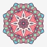 Mandala. Creative circular ornament. Round symmetrical pattern. Vintage decorative elements. Ethnic oriental pattern. Ottoman motifs. Tattoo design. Vector royalty free illustration