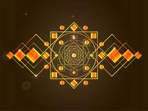 A mandala cósmica Imagens de Stock