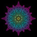 Mandala Czarni Nowi 6 Obraz Royalty Free