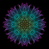 Mandala Czarni Nowi 8 Fotografia Stock