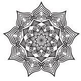 Mandala czarny biel relaksuje wzór Obraz Royalty Free