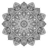 Mandala Czarny Nowy Zdjęcia Royalty Free