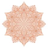 mandala Czerwony indyjski kwiecisty ornament Zdjęcie Royalty Free