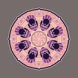 Mandala décoratif coloré complexe Photo stock