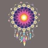 Mandala décoratif coloré de Dreamcatcher Photos stock