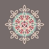 Mandala décoratif coloré simple Image stock