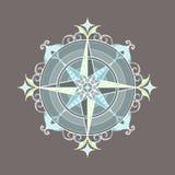 Mandala décoratif coloré simple dans une forme d'une boussole Photos stock