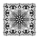 Mandala d'équation quadratique de vecteur Éléments décoratifs ethniques Tiré par la main illustration stock