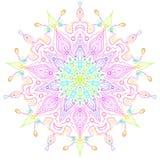 Mandala d'étoile de Faerie d'arc-en-ciel Image stock