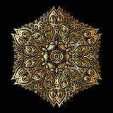 Mandala d'or Image libre de droits