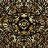 Mandala d'or Photos stock