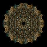 Mandala d'or Images libres de droits