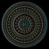 Mandala d'or Photographie stock libre de droits