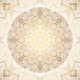 Mandala d'or Illustration Libre de Droits