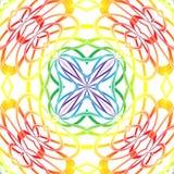 Mandala d'abstraction d'arc-en-ciel Photographie stock