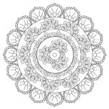 Mandala d'abstraction d'ensemble de coloration Images stock