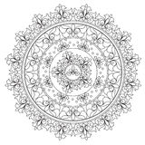 Mandala d'abstraction de vintage de coloration Photo libre de droits