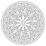 Mandala d'annata del fiore di coloritura illustrazione vettoriale