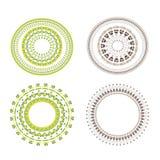 Mandala d'annata dell'insieme di vettore Elementi floreali per progettazione dei monogrammi, degli inviti, dei telai, dei menu, d illustrazione di stock