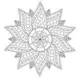 Mandala d'annata floreale di coloritura illustrazione vettoriale
