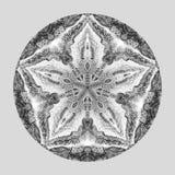 Mandala d'aquarelle de Detaled Modèle rond de vintage oriental Fond abstrait tiré par la main Motif mystique de tabouret Photo libre de droits
